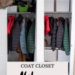 Coat Closet Organization Makeover