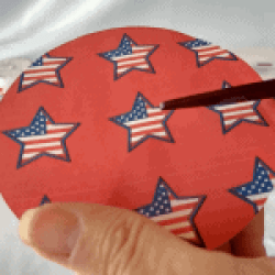 cut to the center of the circle paper
