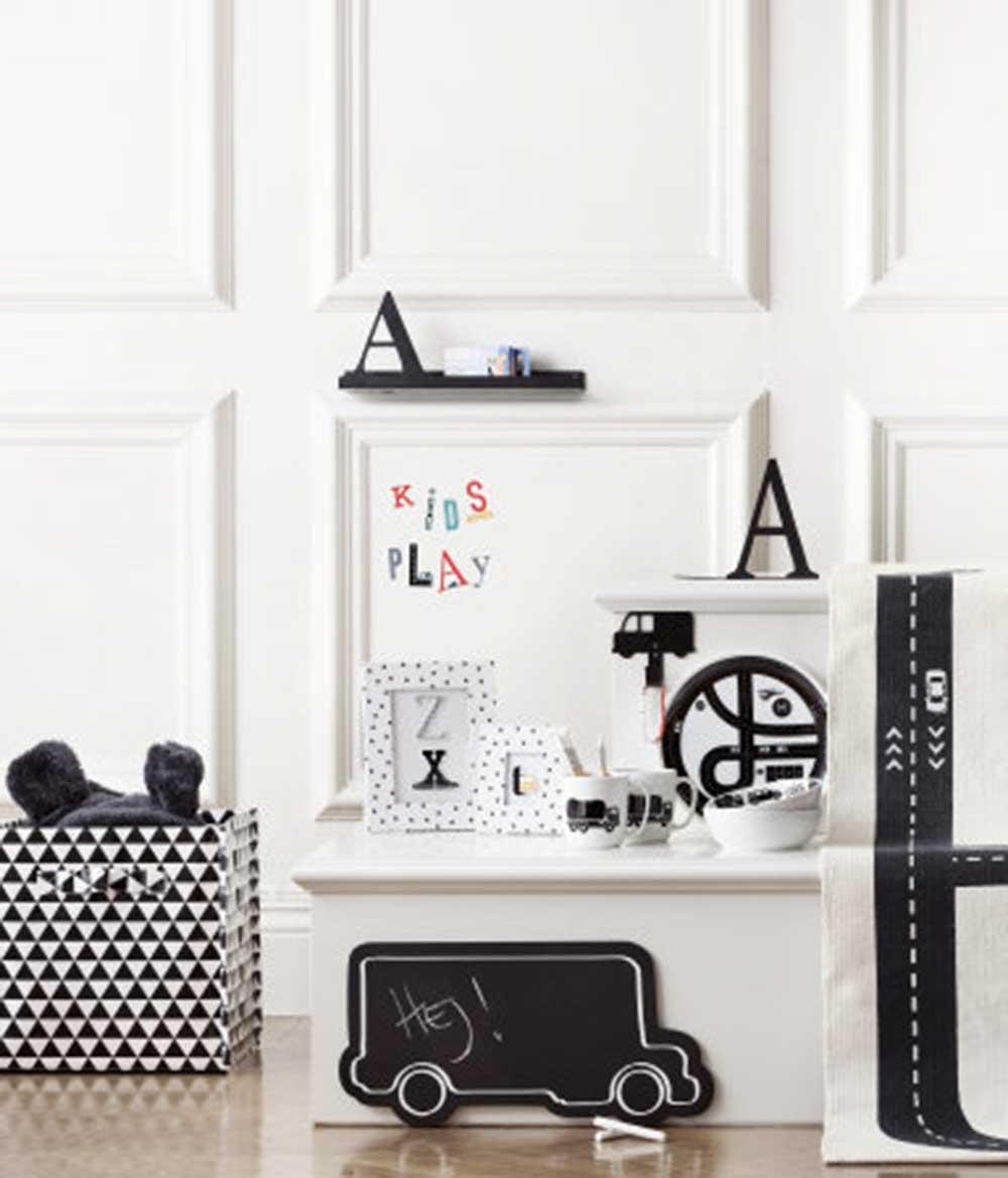 Zwart-witte speel accessoires