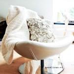 DIY: Crèmekleurige gehaakte plaid om zelf te maken
