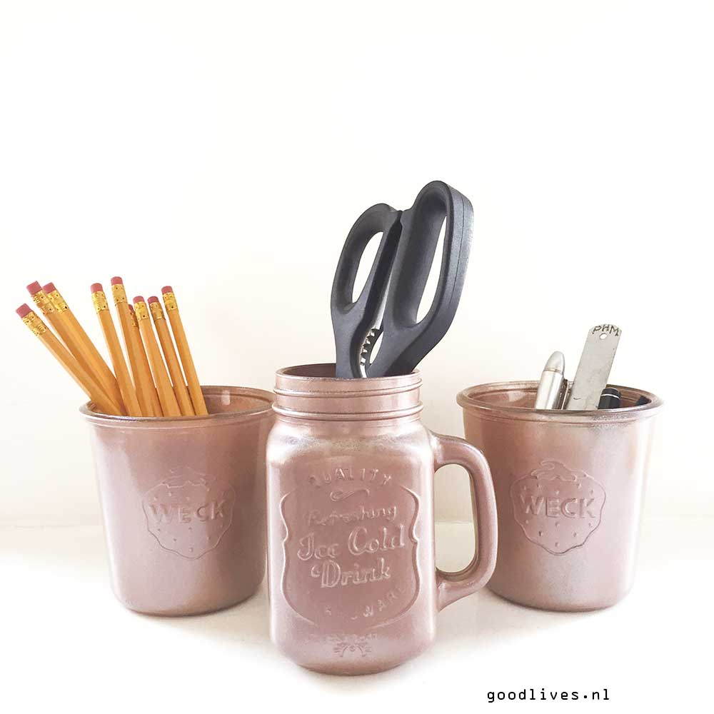 Weck jars painted, DIY on Goodlives.nl