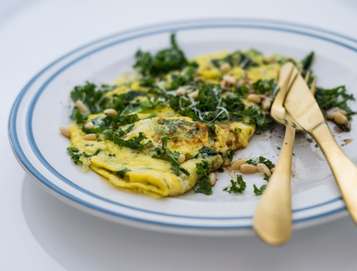omelett med grønnkål