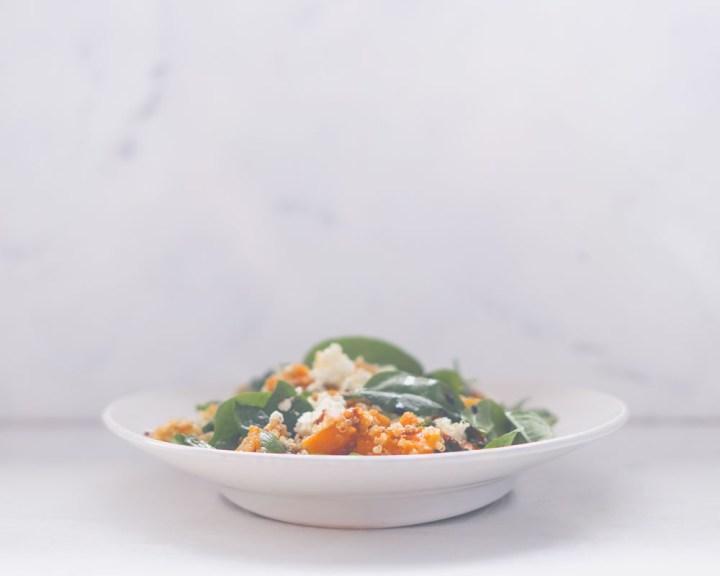 quinoasalat med gresskar og fetaost