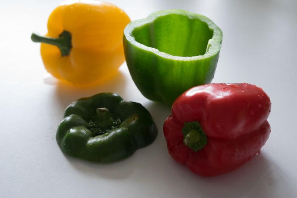 Fylt paprika med tacorester