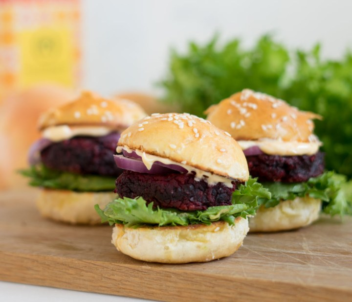 rødbetburger