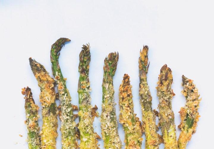 Ovnsbakte asparges med parmesan