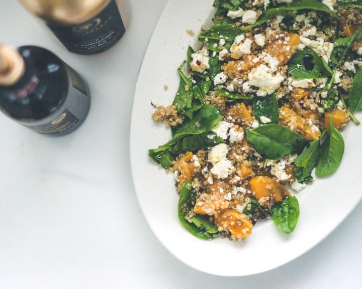gresskarsalat med quinao