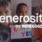 [INTERNATIONAL] Indiegogo lance Generosity, plateforme dédiée aux oeuvres caritatives