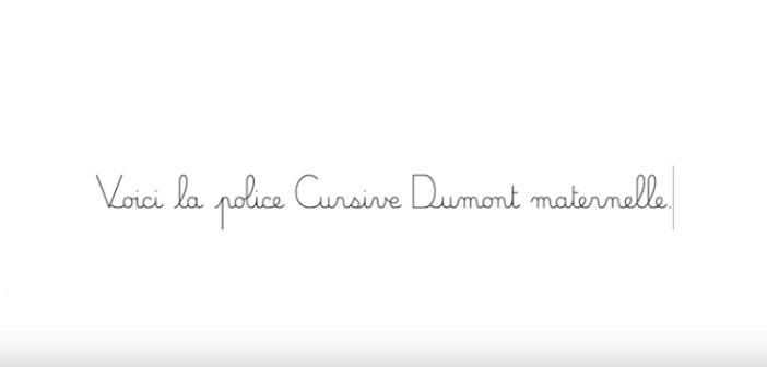 PDJ 2 Janvier : Cursive Dumont Maternelle, une police d'écriture pour les enseignants