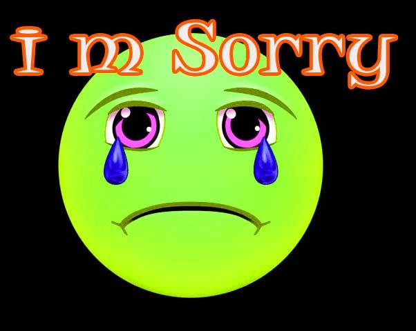 Sorry Whatsapp Dp Pics Pictures