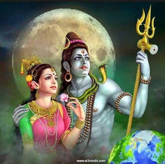 beautiful pictures of lord shiva andparvati