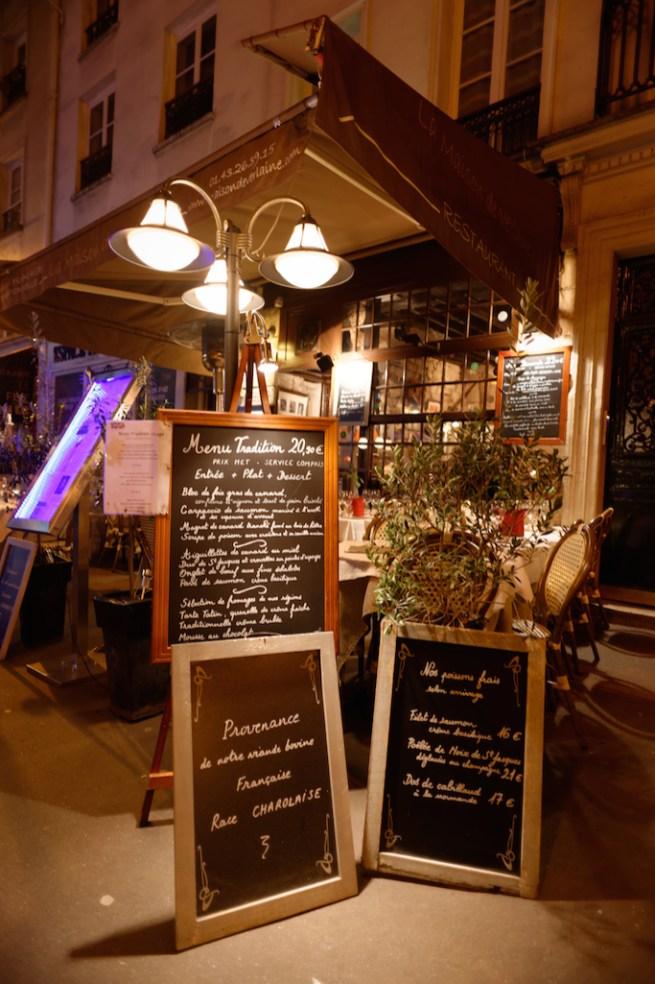 Restaurant rue Descartes-Paris latin quarter