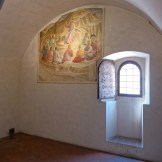 Florence-San Marco-A cell with fresco