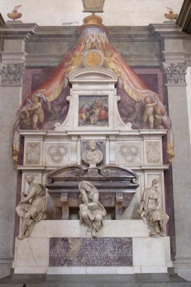 Florence-Santa Croce-Michelangelo's tomb