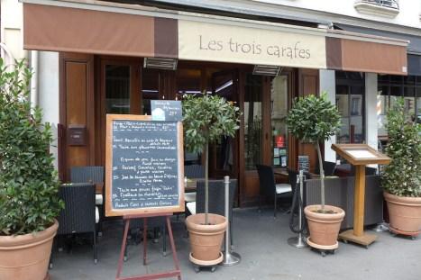 Paris-Restaurant Les trois carafes