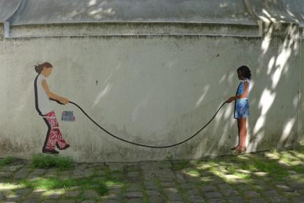 Montmartre-Street art on the chateau d eau