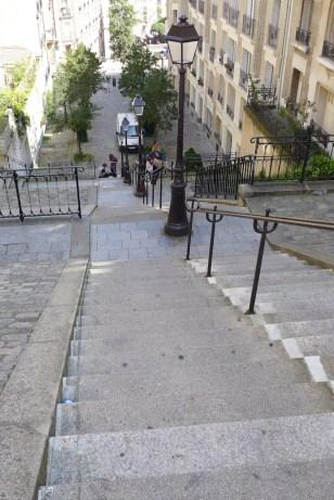 Montmartre-rue du Mont Cenis-Stairs