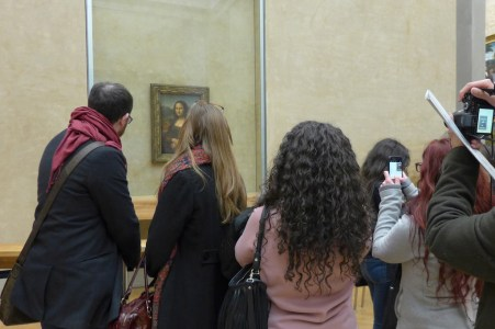Musee du Louvre - In front of Mona Lisa