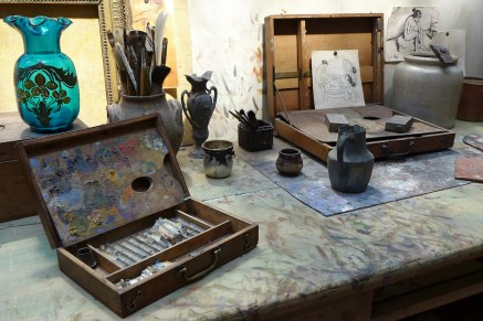 Musee de Montmartre - Paris - The Studio of Suzanne Valadon - paints and brushes