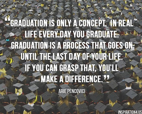 52 Inspirational Graduation Quotes with Images   Good Morning Quote graduation is only a Concept Graduation Quotes