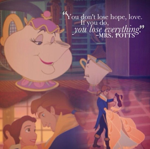 Mrs Pott Beauty and the Beast Quotes