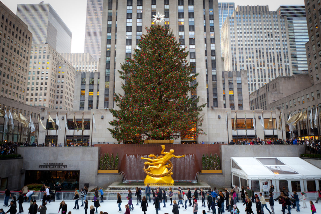 Big Christmas Tree In New York