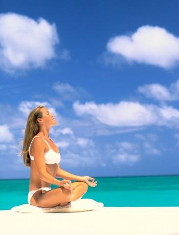 Meditating on Beach SunStar