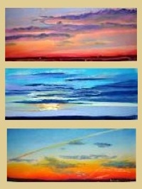 Sunset paintings by Debbie Wagner