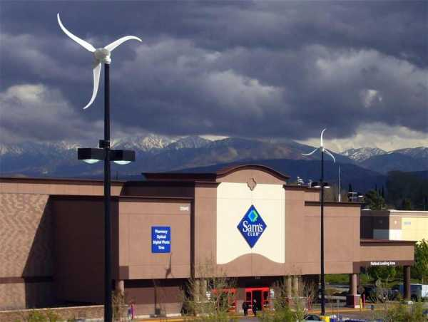 Walmart Put Wind Turbines Atop Light Poles - Good News Network