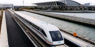 Maglev train in Shanghai China