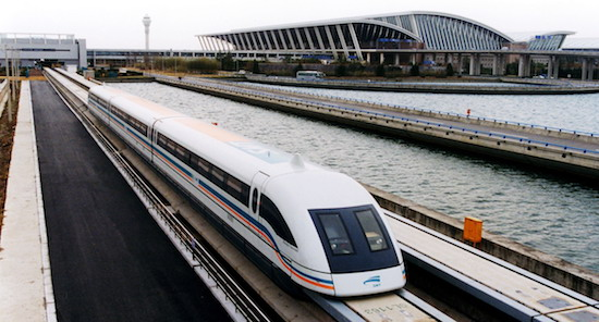 Maglev train in Shanghai China