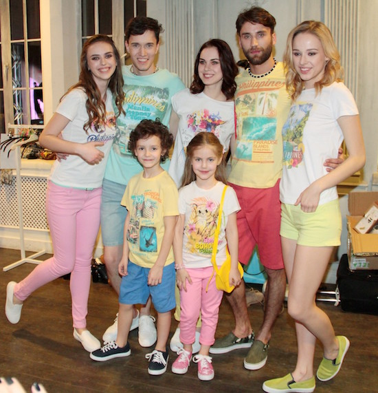 Russian models showcasing the Philippine inspired SELA t-shirts