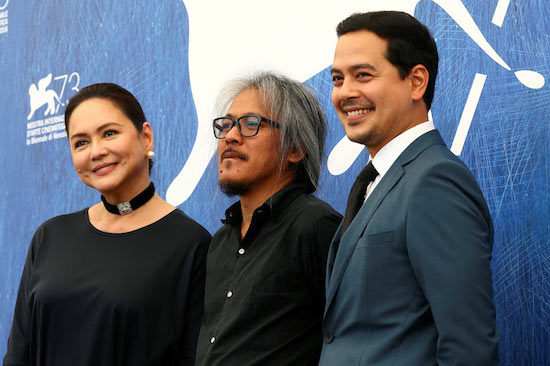 Charo Santos, Lav Diaz and John Lloyd Cruz
