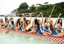 Miss Universe contestants in Boracay