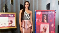 Catriona Gray winning moment immortalized in Philippine postal stamps