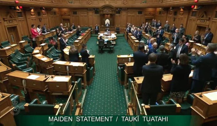 MP Paulo Garcia is welcomed to the New Zealand House of Parliament