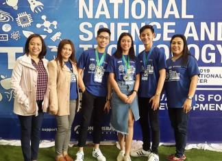 The 3-member Angeles City Science High School team