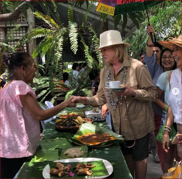 Martha Stewart plants native rice in Sta. Rita, Pampanga