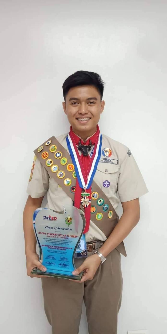 Boy Scout awardee Vince Dylan