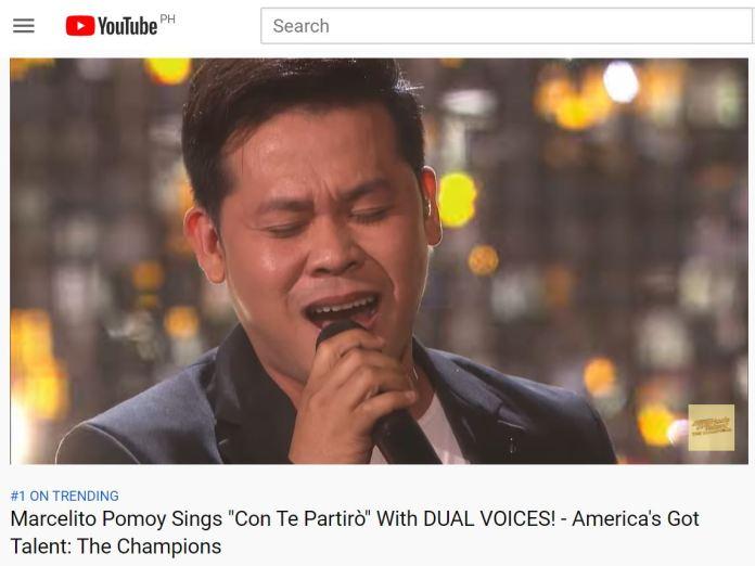 Marcelito Pomoy Youtube video AGT