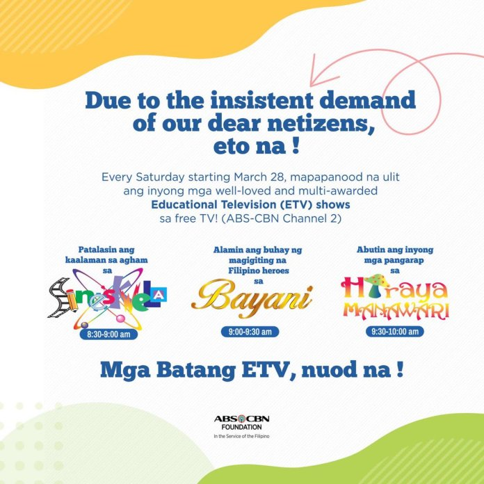 ABS-CBN weekends quarantined