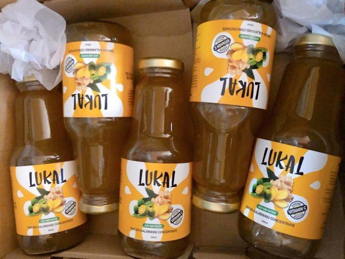 Lukal ginger-calamansi drinks