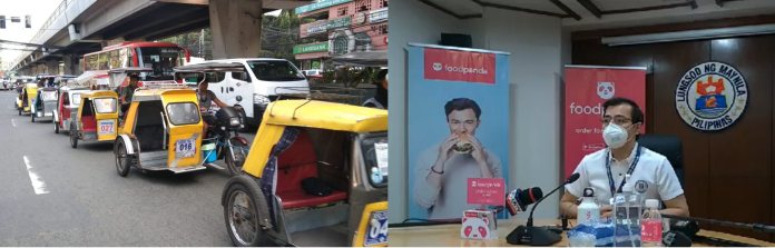 food Panda tricycle delivery