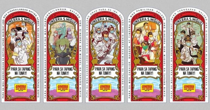 Ginebra San Miguel label frontliners