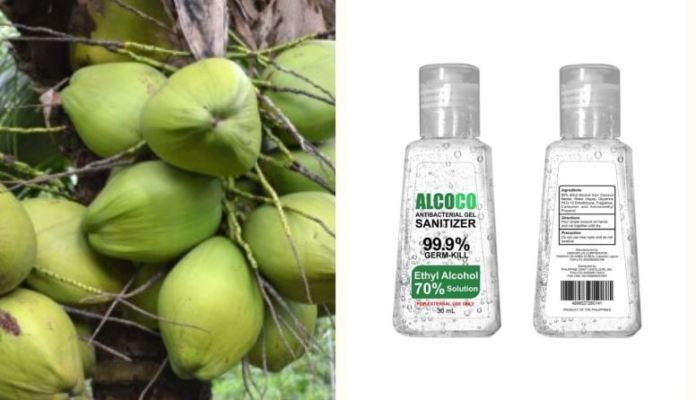 Coconut nectar disinfectant alcohol