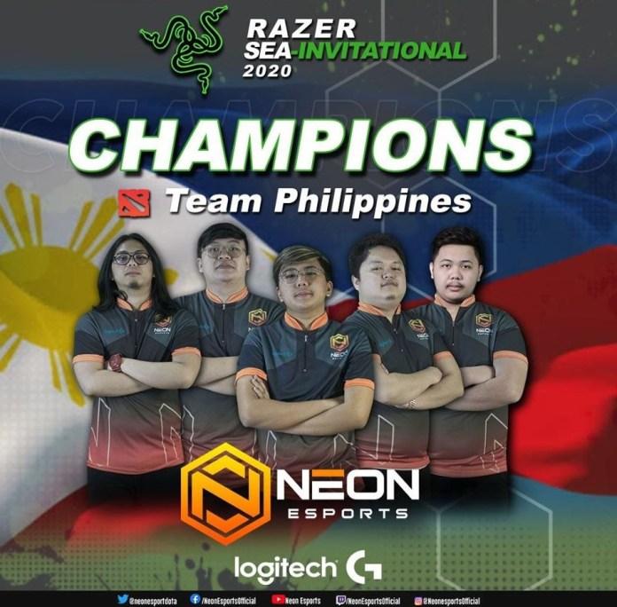 Team Philippines Razer SEA Invitational's Dota 2