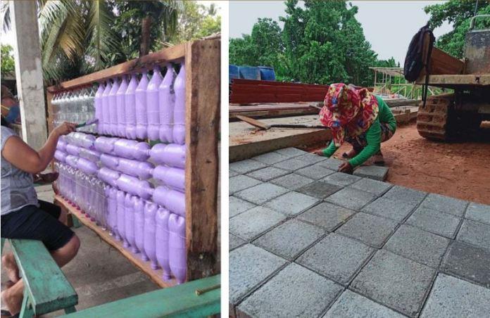 Leyte quarantine facility eco-bricks
