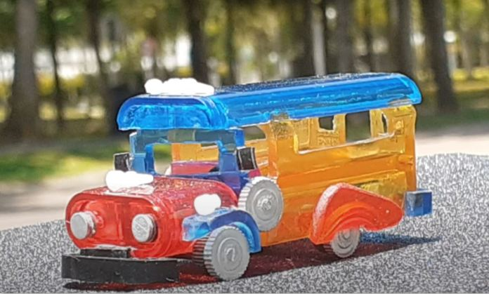 Rowel Naanep recycled mini art Jeepney