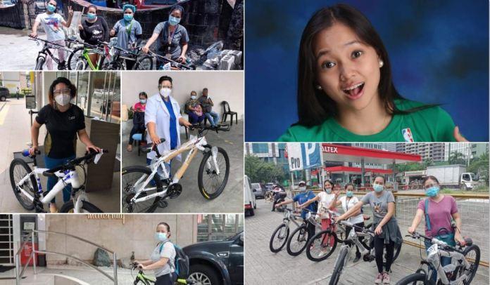 Raya Buensuceso gives 70 bikes