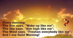 good morning wish message
